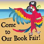Bookaneer Book Fair parrot